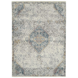 Eddison Ivory and Blue 9 Ft. 3 In. x 12 Ft. 6 In. Area Rug