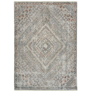 Eddison Gray and Rust 7 Ft.10 In. x 10 Ft. Area Rug