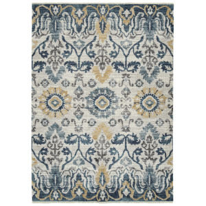 Eddison Blue and Gold 3 Ft. 11 In. x 5 Ft. 3 In. Area Rug