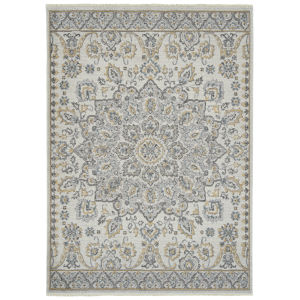 Eddison Silver and Ivory 9 Ft. 3 In. x 12 Ft. 6 In. Area Rug