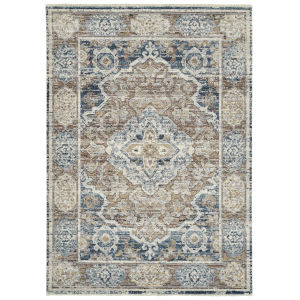 Eddison Navy and Rust 9 Ft. 3 In. x 12 Ft. 6 In. Area Rug