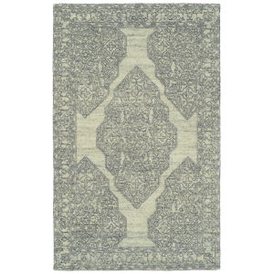 Effete Ivory, Black and Gray 5 Ft. 6 In. x 8 Ft. 6 In. Area Rug