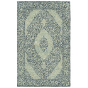 Effete Navy and Ivory 5 Ft. 6 In. x 8 Ft. 6 In. Area Rug