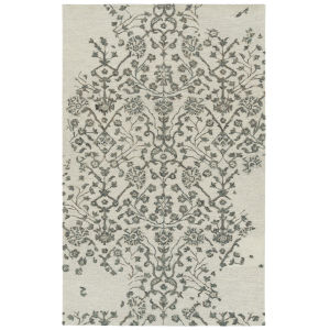 Elijah Ivory and Emerald 5 Ft. x 7 Ft. 9 In. Area Rug