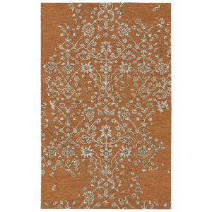 Elijah Orange and Gray 4 Ft. x 6 Ft. Area Rug