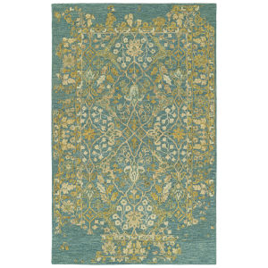 Elijah Turquoise and Emerald 2 Ft. 6 In. x 8 Ft. Runner Rug