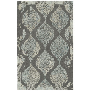 Elijah Graphite, Blue and Ivory 2 Ft. 6 In. x 8 Ft. Runner Rug