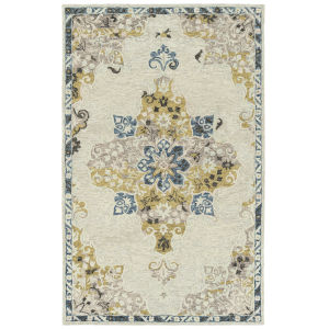 Elijah Ivory, Green and Blue 8 Ft. x 10 Ft. Area Rug