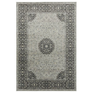 Easton Silver and Gray 2 Ft. x 3 Ft. Throw Rug