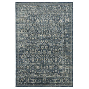 Easton Navy and Ivory 5 Ft. 6 In. x 8 Ft. 6 In. Area Rug