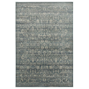 Easton Blue, Gray and Ivory 5 Ft. 6 In. x 8 Ft. 6 In. Area Rug