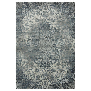 Easton Navy, Ivory and Black 5 Ft. 6 In. x 8 Ft. 6 In. Area Rug