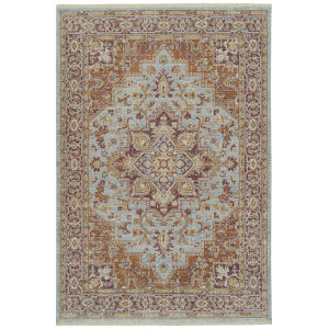Rila Light Blue Rectangular: 7 Ft.10 In. x 10 Ft.10 In. Rug