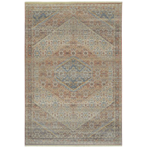 Rila Salmon Rectangular: 9 Ft.6 In. x 13 Ft. Rug