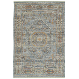 Rila Blue Rectangular: 9 Ft.6 In. x 13 Ft. Rug