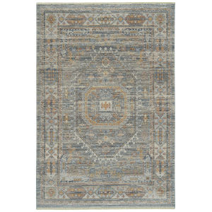 Rila Gray Multicolor Rectangular: 7 Ft.10 In. x 10 Ft.10 In. Rug