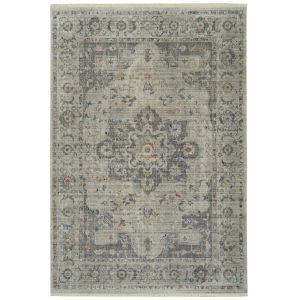 Rila Silver Rectangular: 5 Ft.6 In. x 7 Ft.9 In. Rug
