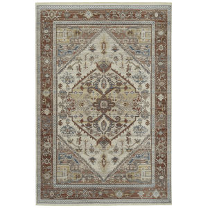Rila Brick Rectangular: 5 Ft.6 In. x 7 Ft.9 In. Rug