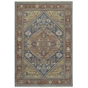Rila Blue Multicolor Rectangular: 7 Ft.10 In. x 10 Ft.10 In. Rug