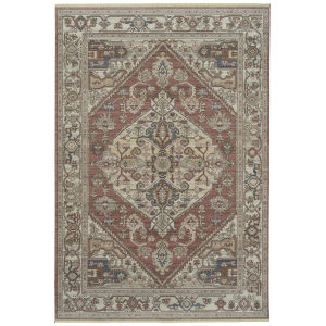 Rila Rose Pattern Rectangular: 5 Ft.6 In. x 7 Ft.9 In. Rug