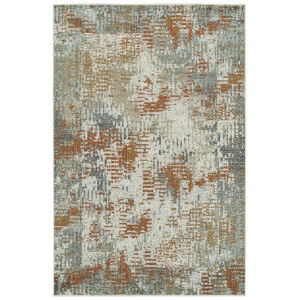 Kayden Rust and Gray 8 Ft. x 10 Ft. Area Rug