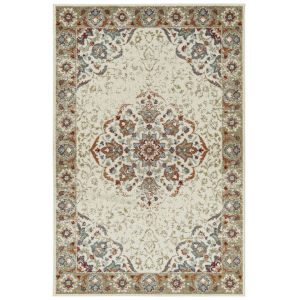 Kayden Ivory and Gold 8 Ft. x 10 Ft. Area Rug