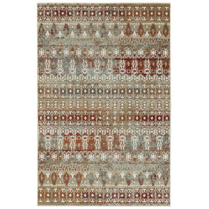 Kayden Gold and Red 3 Ft. 6 In. x 5 Ft. 6 In. Area Rug