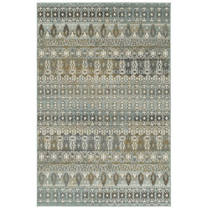 Kayden Blue and Gold 8 Ft. x 10 Ft. Area Rug