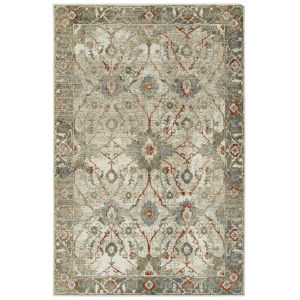 Kayden Gold and Rust 8 Ft. x 10 Ft. Area Rug