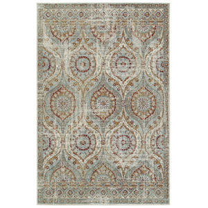 Kayden Rust and Blue 8 Ft. x 10 Ft. Area Rug