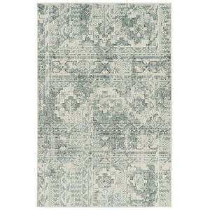 Kayden Blue and Ivory 8 Ft. x 10 Ft. Area Rug