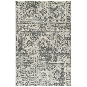 Kayden Graphite and Ivory 8 Ft. x 10 Ft. Area Rug