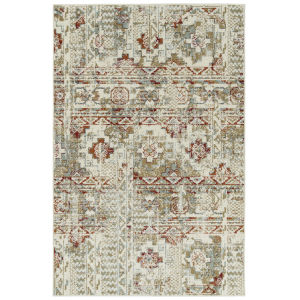 Kayden Ivory and Red 8 Ft. x 10 Ft. Area Rug
