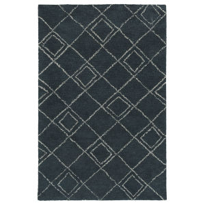 Micha Navy and Silver 3 Ft. 6 In. x 5 Ft. 6 In. Area Rug