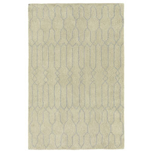 Micha Ivory and Silver 8 Ft. x 10 Ft. Area Rug