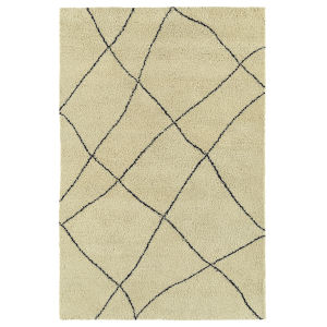 Micha Navy and Ivory 3 Ft. 6 In. x 5 Ft. 6 In. Area Rug