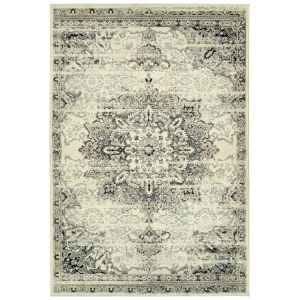 Memphis Ivory and Gray 3 Ft. 11 In. x 5 Ft. 7 In. Area Rug