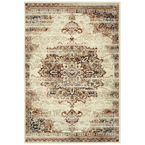 Memphis Cream and Rust 5 Ft. 3 In. x 7 Ft. 6 In. Area Rug