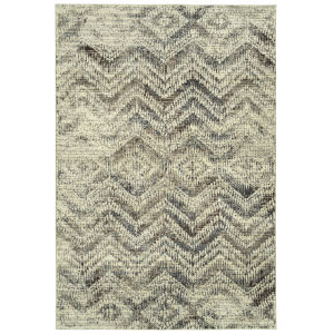 Memphis Chocolate and Charcoal 3 Ft. 11 In. x 5 Ft. 7 In. Area Rug