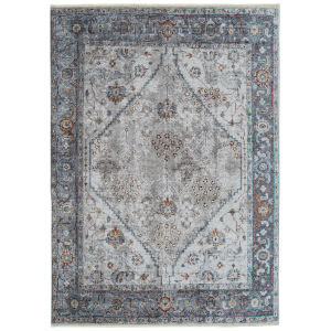 Praia Silver Gray Rectangular: 7 Ft.10 In. x 9 Ft.6 In. Rug