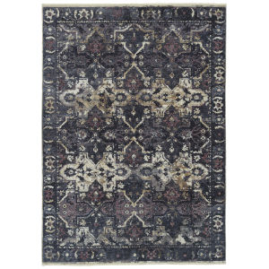 Praia Navy Rectangular: 9 Ft.3 In. x 11 Ft.6 Rug