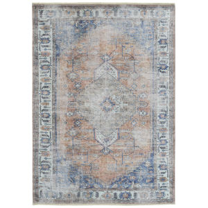 Praia Rust Multicolor Rectangular: 7 Ft.10 In. x 9 Ft.6 In. Rug