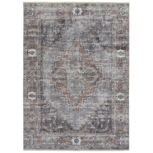 Praia Gray Multicolor Rectangular: 7 Ft.10 In. x 9 Ft.6 In. Rug