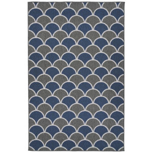 Puerto Navy Pattern Rectangular: 3 Ft.6 In. x 5 Ft.6 In. Rug