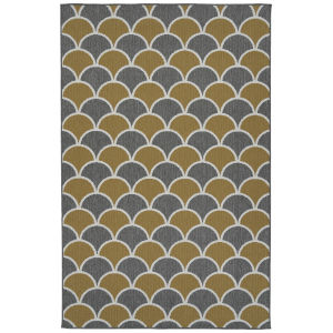 Puerto Yellow Pattern Rectangular: 7 Ft.2 In. x 10 Ft.5 In. Rug