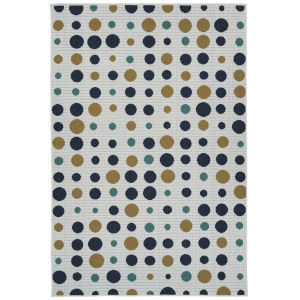 Puerto White Multicolor Rectangular: 3 Ft.6 In. x 5 Ft.6 In. Rug