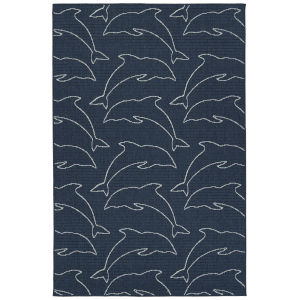 Puerto Navy String Rectangular: 3 Ft.6 In. x 5 Ft.6 In. Rug