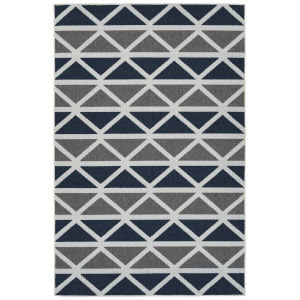 Puerto Gray Pattern Rectangular: 3 Ft.6 In. x 5 Ft.6 In. Rug