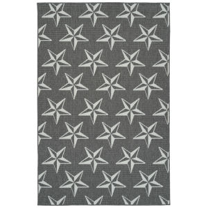 Puerto Gray Star Rectangular: 3 Ft.6 In. x 5 Ft.6 In. Rug