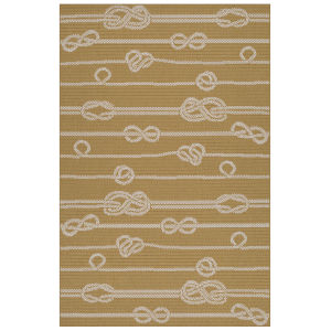 Puerto Yellow Wave Rectangular: 3 Ft.6 In. x 5 Ft.6 In. Rug